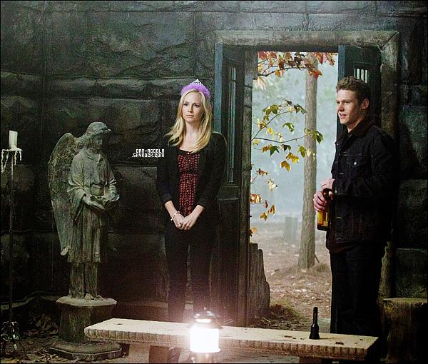 """.Découvre un stills de l'épisode 3x11 de Vampire Diaries, intitulé """" Our Town """", où l'on aperçoit Caroline (Candice).."""
