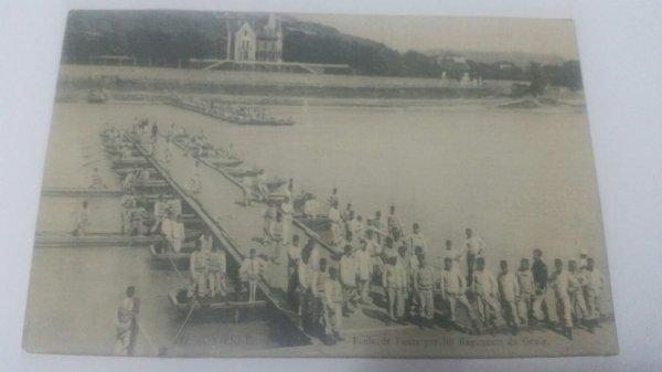 Carte  postal  de  l'école  de ponts par le  régiment du génie