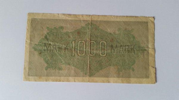Billet allemand   daté  de 1922