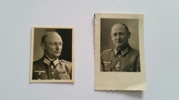 Deux portrait  de offisier allemand ww2