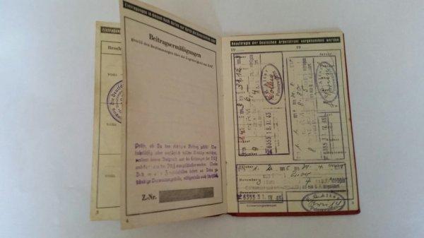 Daf  mitgliedsbuch ww2 allemand