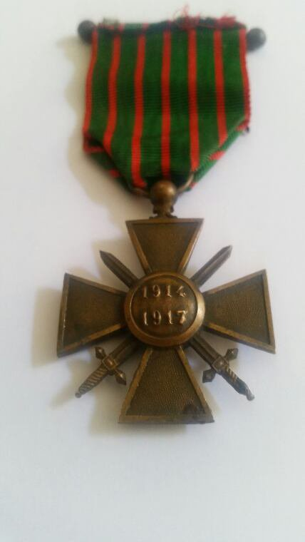 Médaille  de geure daté  1914.1917