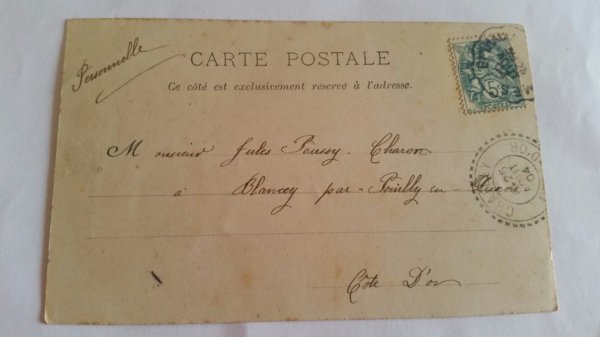 Carte postal ww1 1918