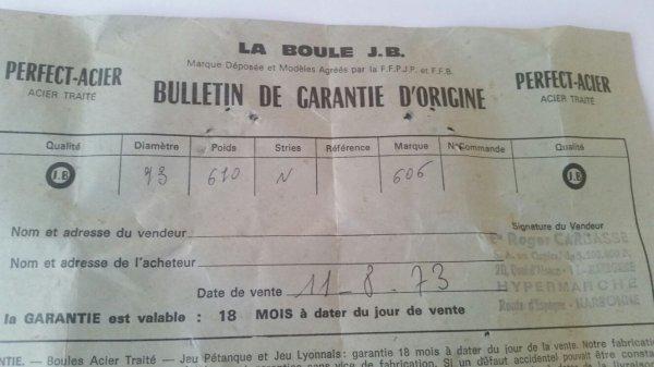 Vieux papier 1973