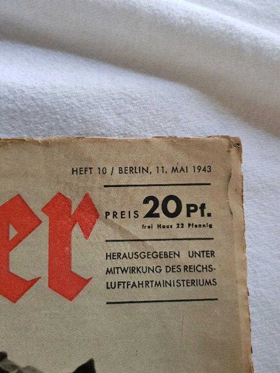 Adler  ww2  allemand   daté  1943