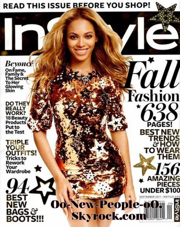 17.08.2011 - Couve : Beyoncé fait la couverture du magazine In Style