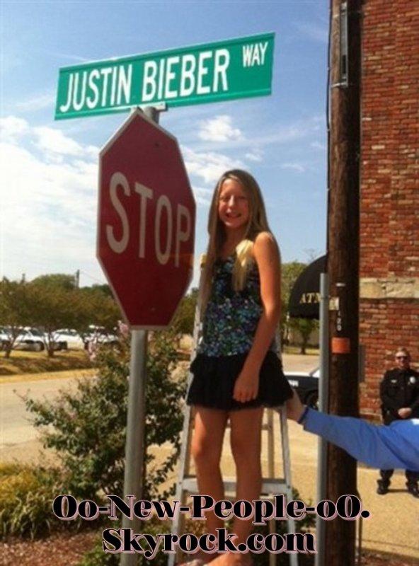 19.08.2011 - Scoop : Justin Bieber : A une rue à son nom !