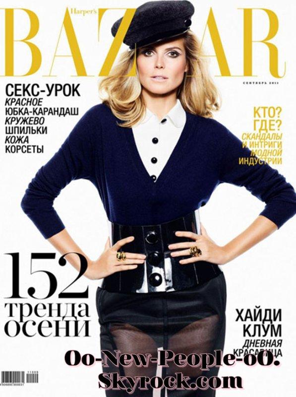 21.08.2011 - Couve : Heidi Klum en couverture du Harper's Bazaar Russe
