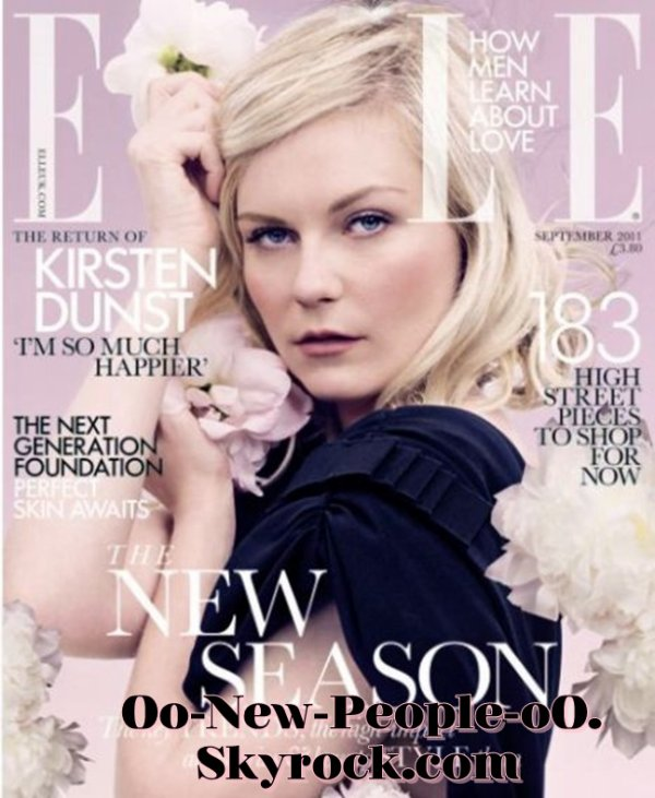"""22.08.2011 - Couve : Kirsten Dunst fait la couverture de """"Elle"""""""