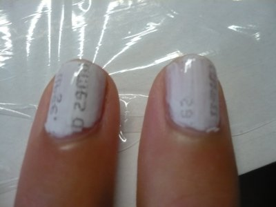 test ongle journal