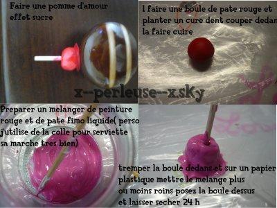 tuto pomme d'amour