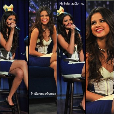 Selena vu chez David letterman + Selena au jimmy fallon show