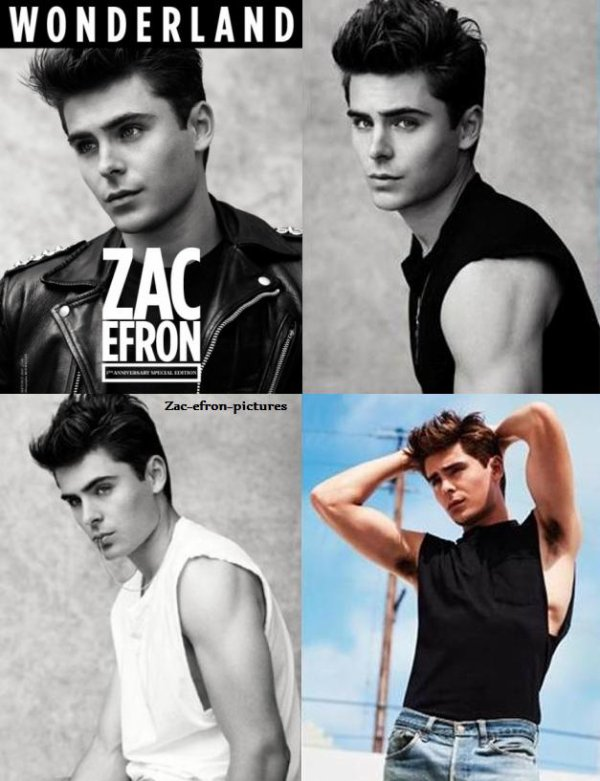 Zac en James Dean pour Wonderland ^^
