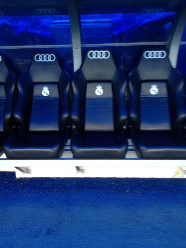 le banc du real madrid