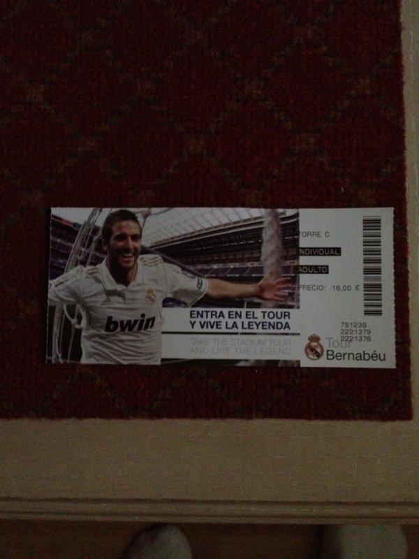 Tour du stade du réal Madrid