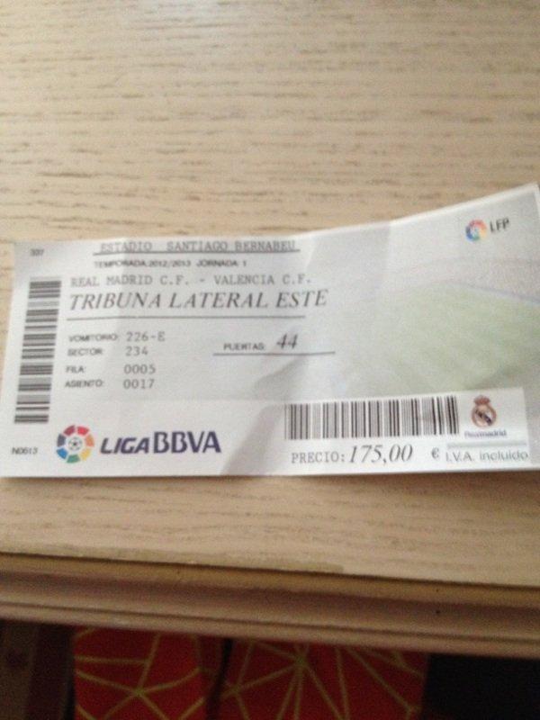 Billet du match réal Madrid - valencia à 19h00 le 19 août