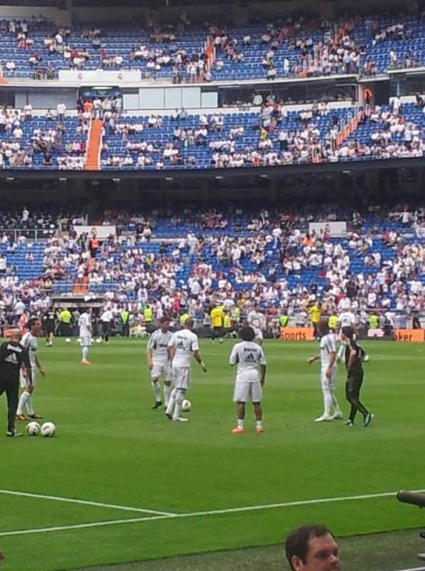 entrainement  du Real Madrid