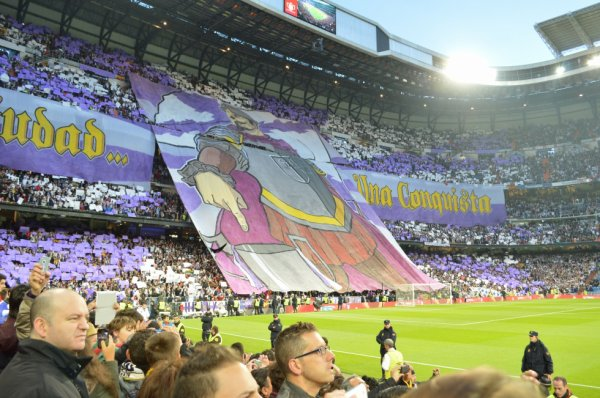 Le tifo du Grand real madrid 2012 - 2013