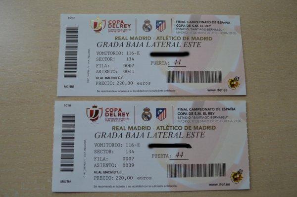 Billet de la Copa del Rey 2012 -2013