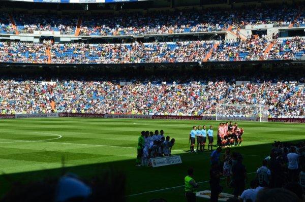 la photo des deux équipe Real Madrid et Athletic Bilbao