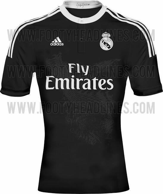 Sur le nouveau maillot noir du Real Madrid il disposera d'un dragon aux milieux du maillot