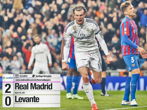 Real Madrid 2-0 Levante UD 15/03/2015