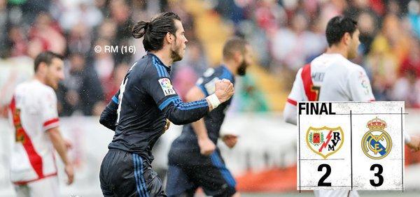 Le Real Madrid s'impose sur la pelouse du Rayo Vallecano difficilement