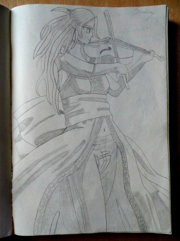 Jeune femme violoniste