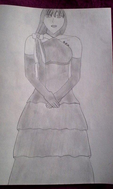 Lina en robe de bal