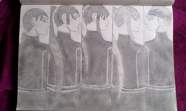 Sayuri, Sinistra, Kanda, Lina et Lavi