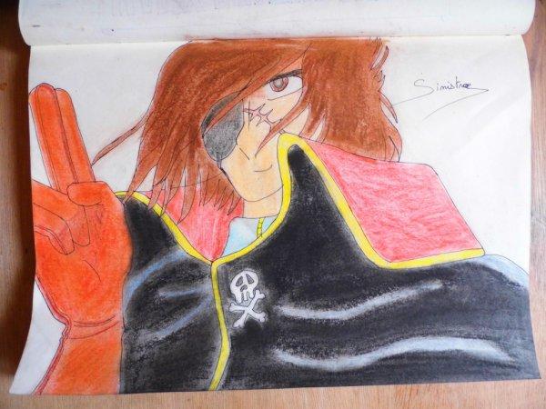 Portrait d'Albator le Corsaire de l'Espace