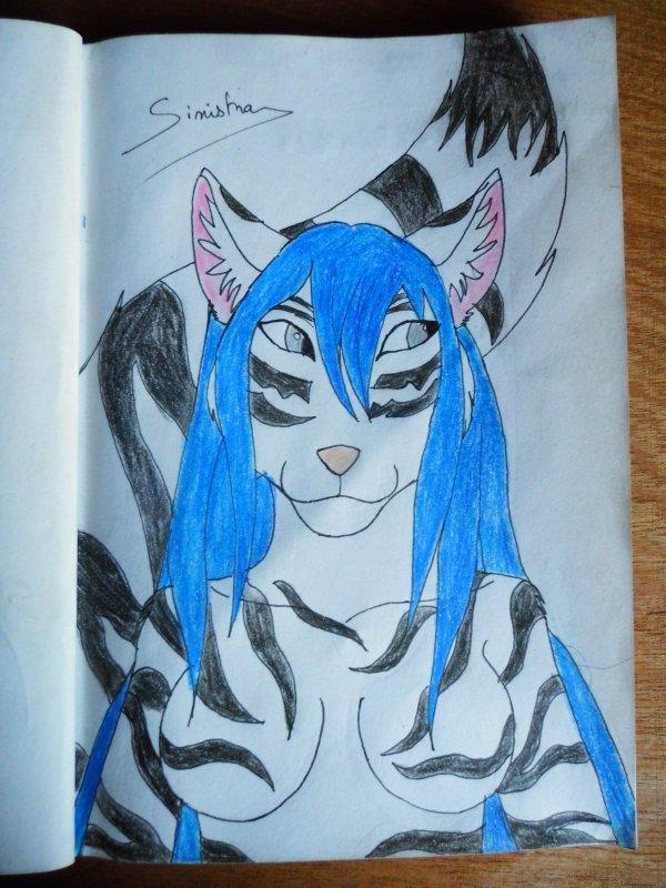 Shirane, la louve furry croisée tigre blanc