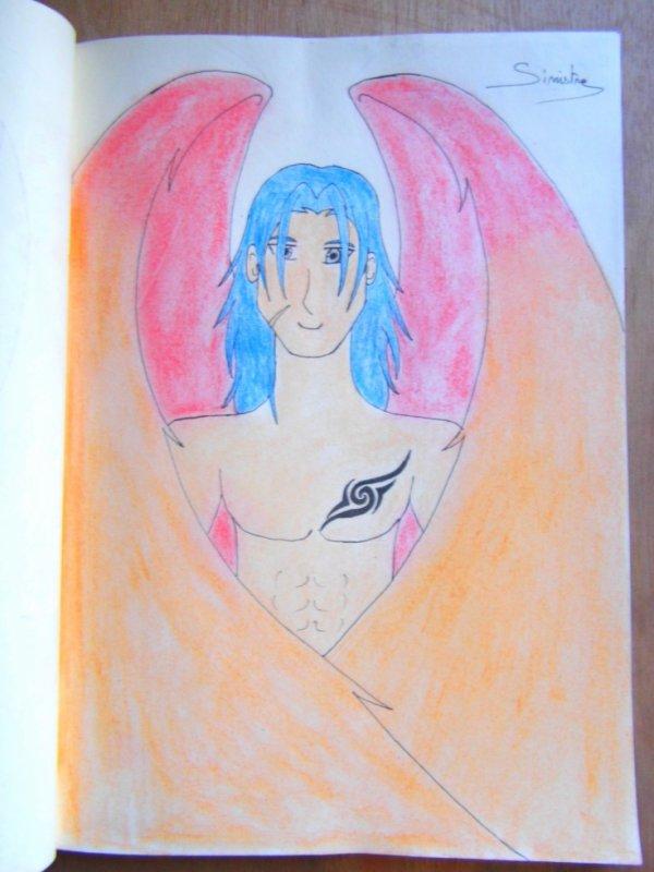 """L'ange tatoué aux ailes de """"feu"""""""