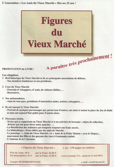 Souscription du nouveau livre ' Figures du Vieux Marché ' avant le 31-05-2011