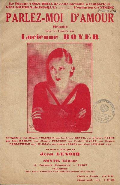 Lucienne boyer ne pouvais pas rester dans une caisse sur le A'met tous comme Maurice Chevalier