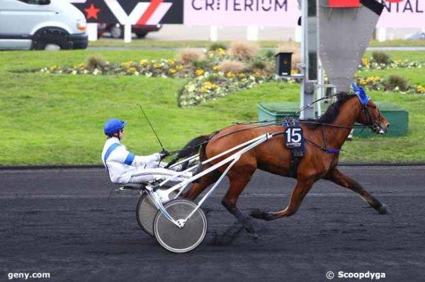 ce  samedi  24  décembre  2016  un quinté de trot attelé  a vincennes 18 chevaux résultat 15 12 3 10 17