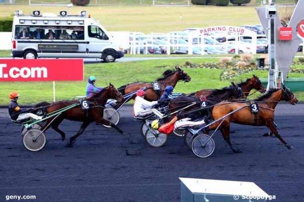 ce mardi  10  janvier  2017  quinté de vincennes trot attelé avec 18 chevaux arrivée 3 10 4 5 6