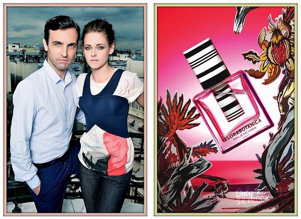 . ᘛ  Découvrez une photo de Kristen et de Nicolas Ghesquière prise à Paris le 28 juin 2012 ᘚ + Une photo du parfum dont Kristen est l'égérie. .
