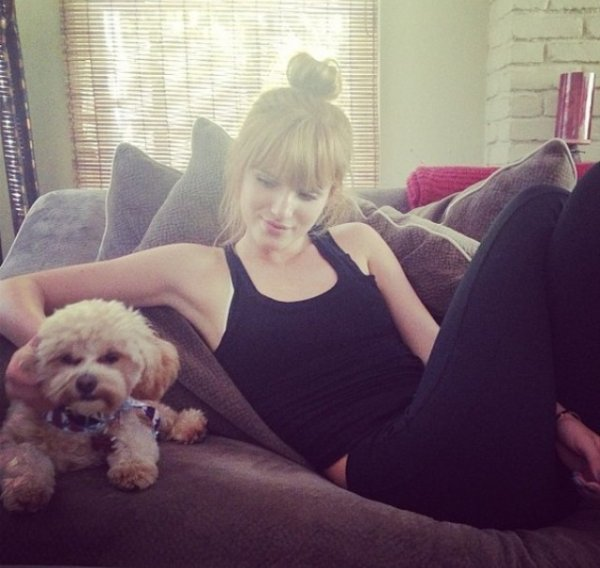 Bella et son chien!