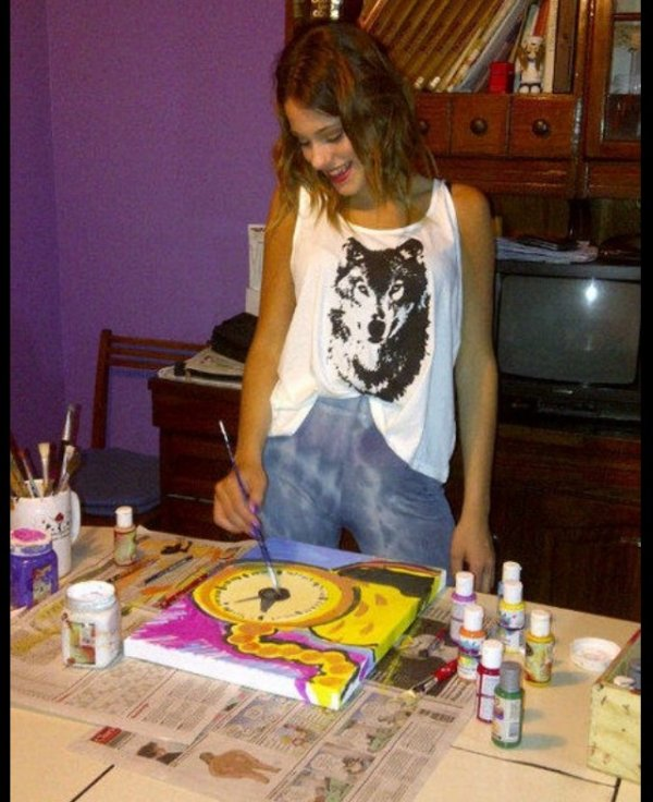 Artiste peintre! @TiniStoessel