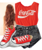 Tenue CocaCola. [Sarah.]