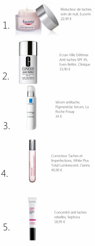 Tache pigmentaires: Notre Top 5 des soins ciblés.