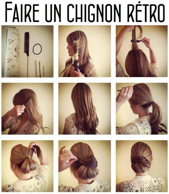 Tuto coiffure chignon retro •°SupWoman