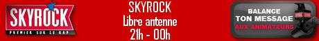 la baniére de Skyrock Radio Libre, faite par un modérateur de ados-mania.com