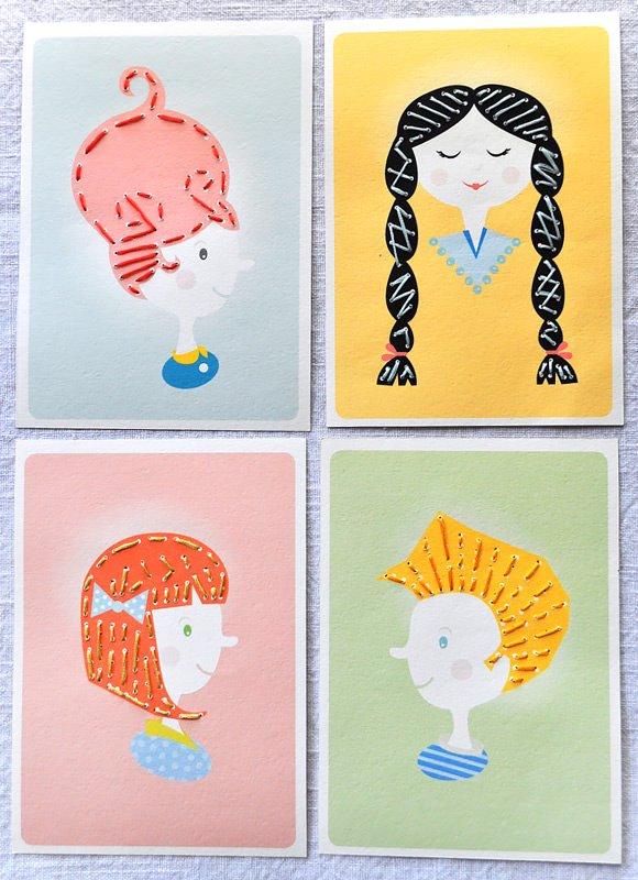 Des cartes à broder