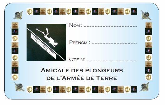 PRESENTATION DE LA CARTE D' AMICALISTE