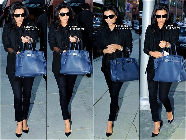 .18/12/12 : Eva Longoria  s'est rendue au salon « Anastasia » pour ce faire une petite beautée à Beverly Hills..