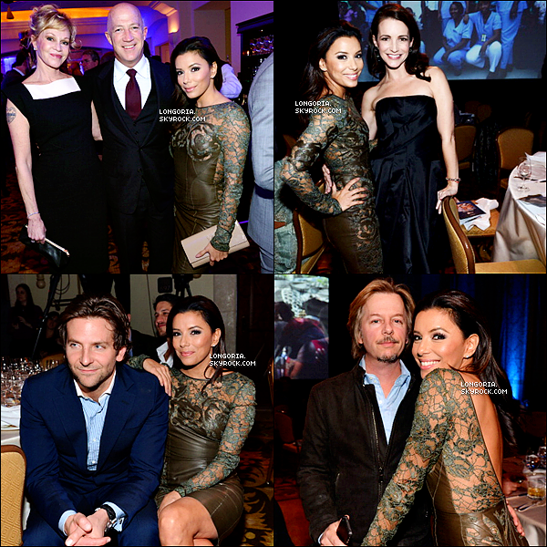 .12/01/13 : Eva Longoria été au «  2nd Annual Sean Penn & Friends Help Haiti Home Gala  » à Los Angeles..