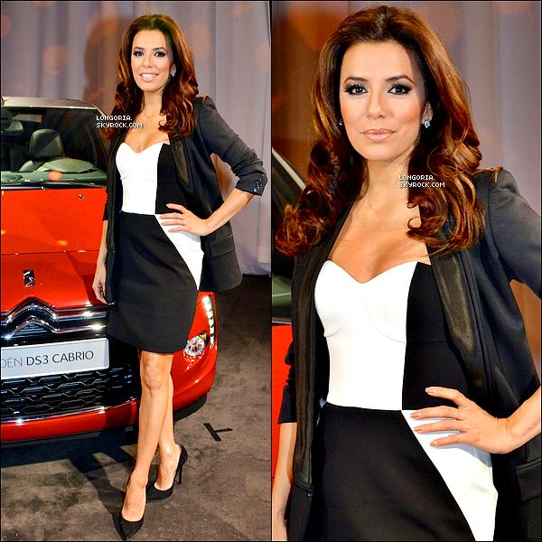 .27/02/13 : Eva Longoria s'est rendue au lancement de la voiture « Citroen DS3 Cabrio  » avec une fan à Berlin..