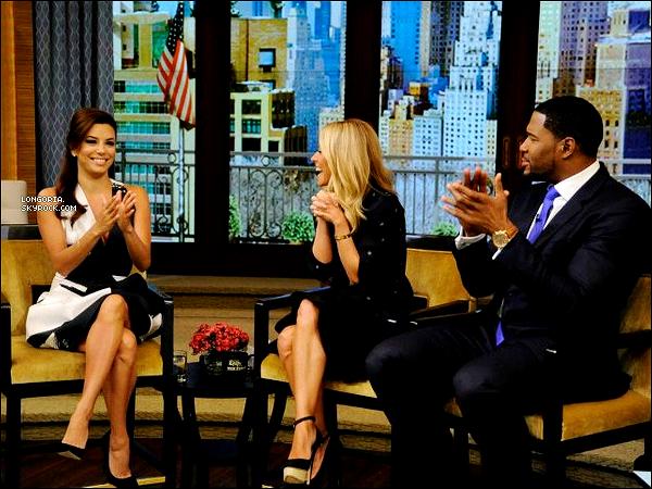.08/04/13 : La belle Longoria sur le plateau « Live with Kelly & Michael » à New-York..